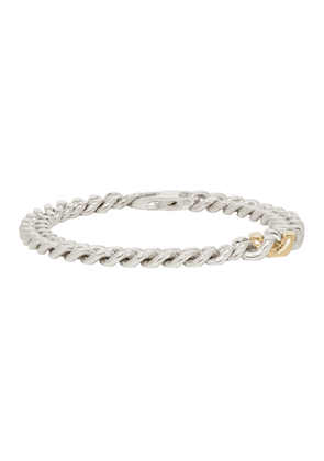 Bunney Silver & Gold Simple Chain Bracelet