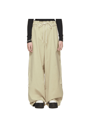 Ambush Beige Drawstring Trousers