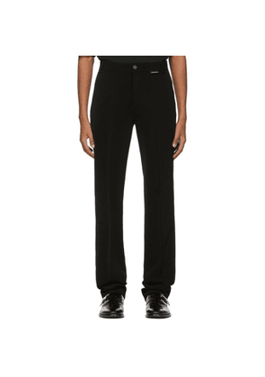 Balenciaga Black Crepe Twill Fitted Trousers