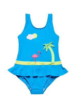 Tropical Scene One-Piece Swimsuit, Size 2-6X