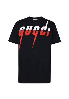 GUCCI Oversized Blade Print T Shirt
