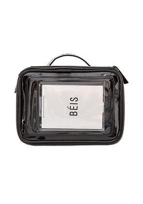 BEIS The Carry On Cosmetic Case in Black.