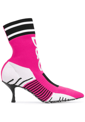 Dolce & Gabbana Lori sock ankle boots - Pink