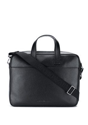 Emporio Armani classic laptop bag - Black