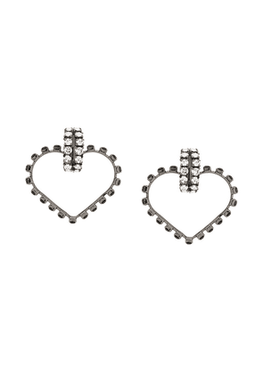 Saint Laurent Smoking Love crystal earrings - Metallic
