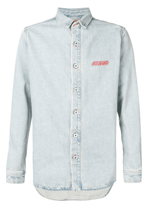 Heron Preston denim shirt jacket - Blue