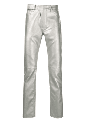 Cmmn Swdn leather effect trousers - Silver