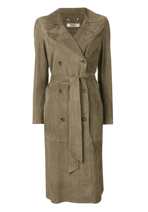 Desa 1972 double breasted belted coat - Green