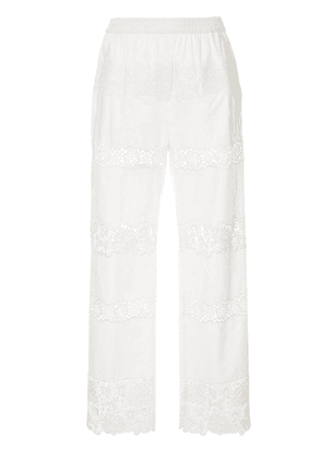 Dolce & Gabbana embroidered trousers - White