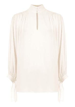 Egrey silk shirt - White