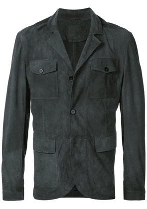 Desa 1972 buttoned leather jacket - Grey