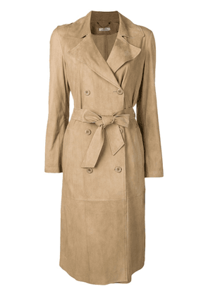 Desa 1972 double-breasted trench coat - Neutrals