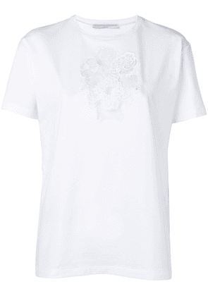 Ermanno Scervino embroidered flower T-shirt - White