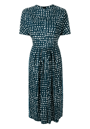 Marni printed fit-and-flare midi dress - Blue