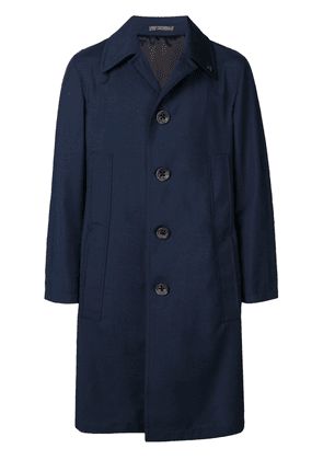 Gabriele Pasini button trenchcoat - Blue