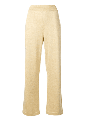 Moncler metallic flared trousers - Gold