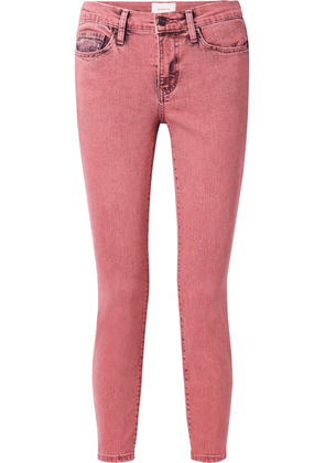 Current/Elliott - The Stiletto Cropped Mid-rise Skinny Jeans - Pink