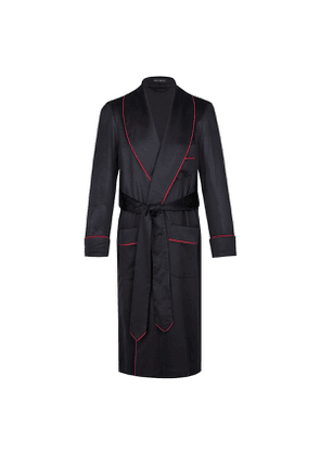 Navy Cashmere Dressing Gown