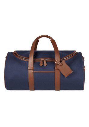 Blue Canvas and Leather Griffin Barrel Holdall