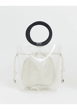 a79e20347c Bershka top handle bag with inner pouch in clear