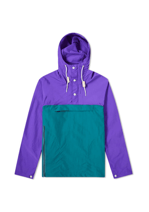 Battenwear Packable Anorak Purple & Teal