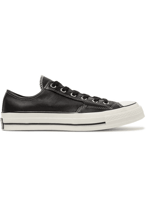 Converse - 1970s Chuck Taylor All Star Full-grain Leather Sneakers - Black