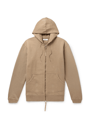 nonnative - Dweller Loopback Cotton-jersey Zip-up Hoodie - Beige