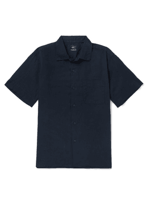 Save Khaki United - Cotton And Linen-blend Shirt - Navy