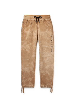 1017 ALYX 9SM - Logo And Camouflage-print Cotton-jersey Sweatpants - Brown