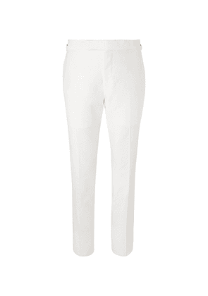 TOM FORD - White Shelton Slim-fit Cotton And Linen-blend Suit Trousers - White