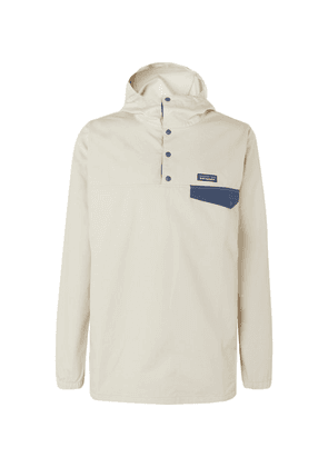 Patagonia - Maple Grove Snap-t Organic Cotton-blend Canvas Hooded Jacket - Off-white