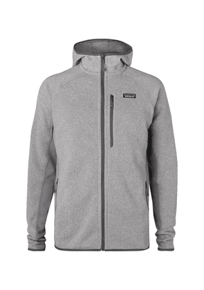 Patagonia - Performance Better Sweater Jersey-panelled Fleece-back Textured-knit Zip-up Hoodie - Gray