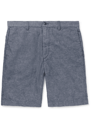 Save Khaki United - Cotton And Linen-blend Chambray Shorts - Blue