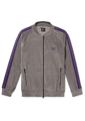 Needles - Striped Cotton-blend Velour Jacket - Gray