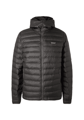 Patagonia - Quilted Dwr-coated Ripstop Hooded Down Jacket - Anthracite