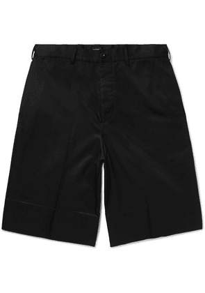 Alexander McQueen - Cotton-gabardine Shorts - Black