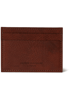 George Cleverley - 1786 Russian Hide Cross-grain Leather Cardholder - Brown