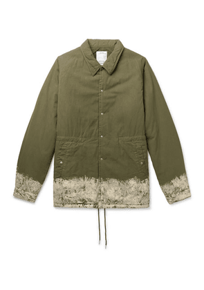 visvim - Painted Padded Cotton-blend Jacket - Army green