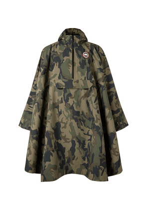 Canada Goose - Field Camouflage-print Shell Poncho - Green