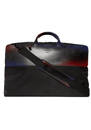 Berluti - Cube Shell And Leather Holdall - Black