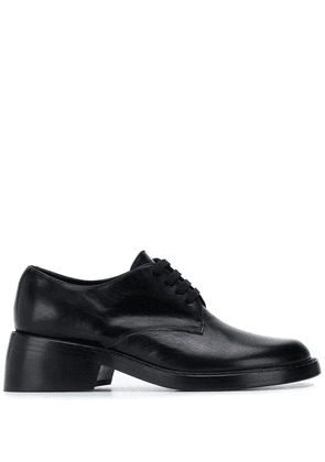 Ann Demeulemeester chunky heel lace-up shoes - Black