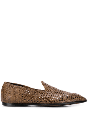 Dolce & Gabbana hand-woven slippers - Brown