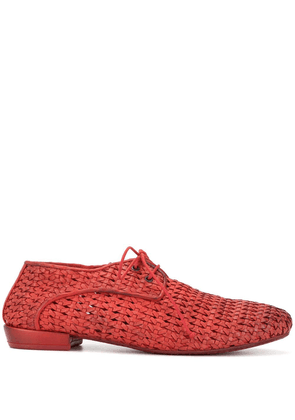 Marsèll woven lace up shoes - Red