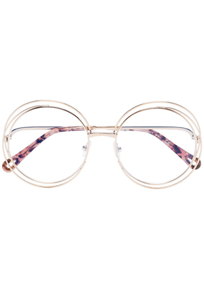 Chloé Eyewear gold round double wire optical glasses