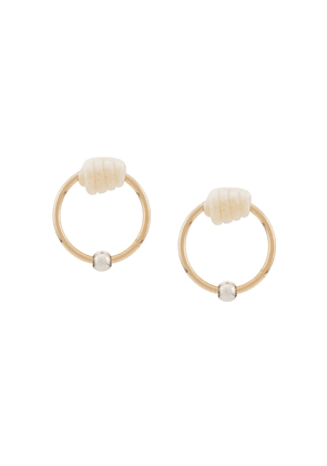 Bottega Veneta small hoop earrings - Gold