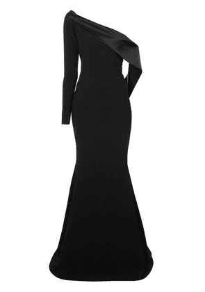 Christian Siriano off shoulder flared gown - Black
