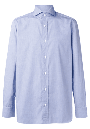 Borrelli plain button shirt - Blue