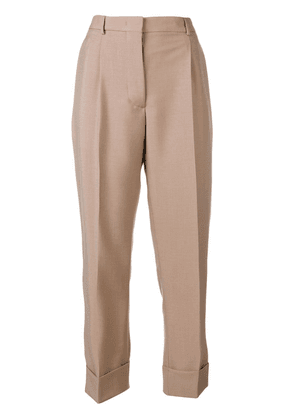 Prada turn-up tailored trousers - Neutrals