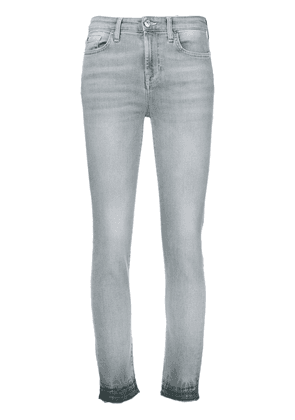 7 For All Mankind high-rise skinny jeans - Grey