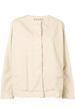 Marni round neck jacket - Neutrals